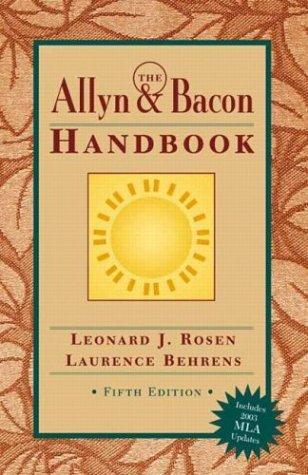 9780321202468: Allyn & Bacon Handbook (MLA Update), The (5th Edition)