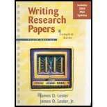 9780321202529: Writing Research Papers: A Complete Guide, MLA Update, 10th Edition