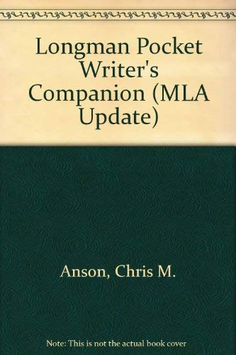 9780321202543: The Longman Pocket Writer's Companion (MLA Update)