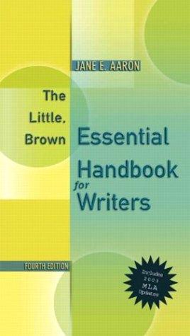 9780321202574: The Little, Brown Essentials (MLA Update), Fourth Edition