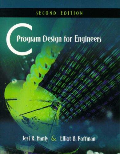 9780321204172: C Program Design for Engineers: International Edition