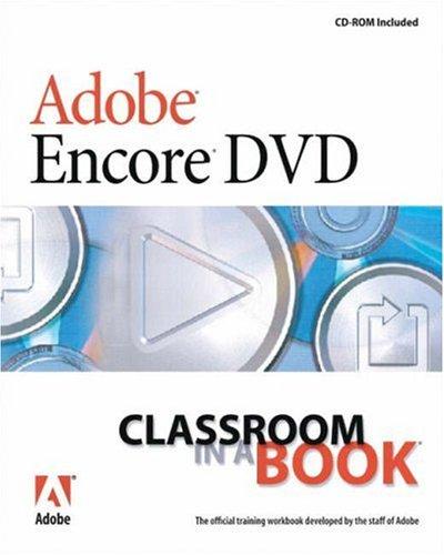 9780321205476: Adobe Encore Dvd: Classroom in a Book