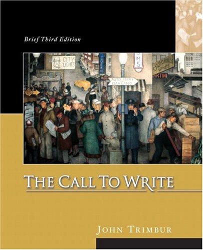 9780321207784: The Call to Write