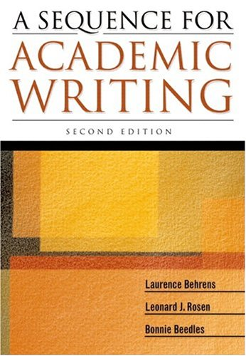 9780321207807: A Sequence for Academic Writing