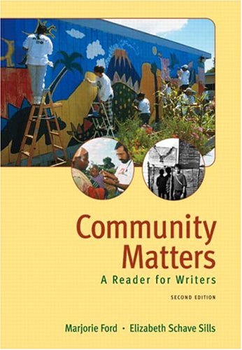 9780321207838: Community Matters: A Reader for Writers (2nd Edition)