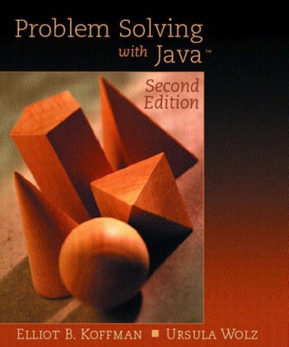 9780321210784: Problem Solving with Java: International Edition