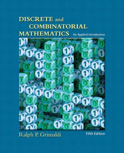 9780321211033: Discrete and Combinatorial Mathematics: An Applied Introduction, Fifth Edition