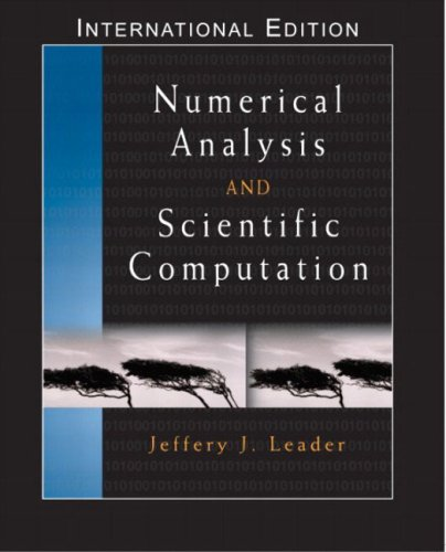 9780321223357: Numerical Analysis and Scientific Computation: International Edition