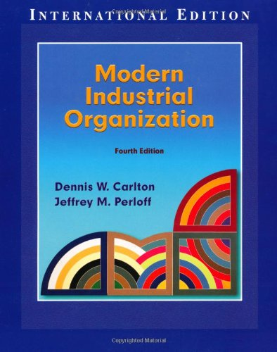 9780321223418: Modern Industrial Organization:International Edition (Pie)