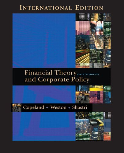 9780321223531: Financial Theory and Corporate Policy