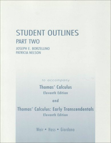 9780321226419: Student Outlines Part 2 for Thomas' Calculus (Pt. 2)