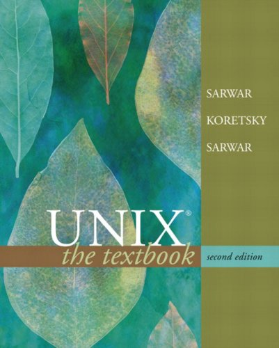 9780321227317: Unix: The Textbook (2nd Edition)