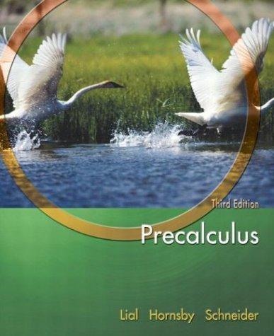 9780321227621: Precalculus (Lial/Hornsby/Schneider Series)
