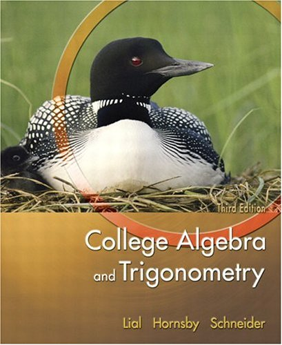 9780321227638: College Algebra and Trigonometry (3rd Edition)