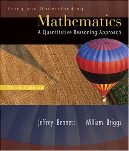 9780321227737: Using and Understanding Mathematics: A Quantitative Reasoning Approach