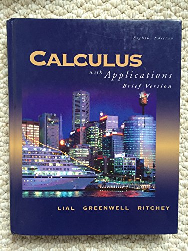 9780321228291: Calculus with Applications, Brief Version (8th Edition)