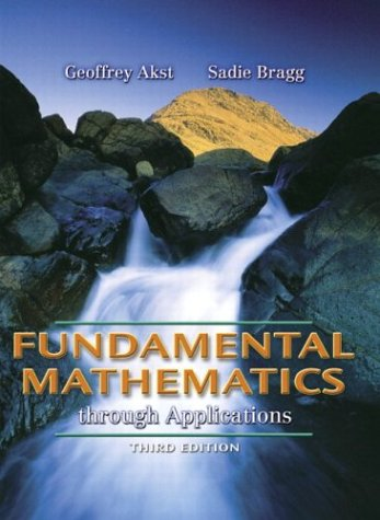 9780321228307: Fundamental Mathematics through Applications (3rd Edition)