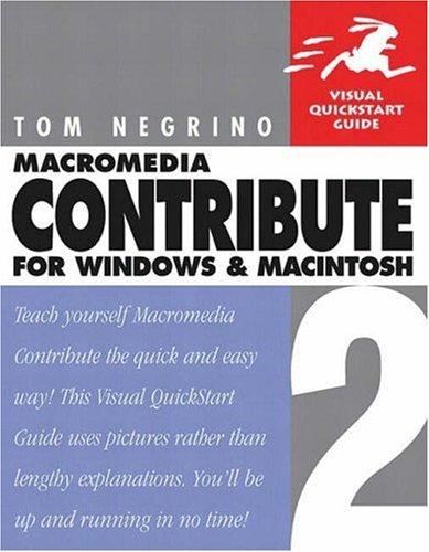 Macromedia Contribute 2 for Windows & Macintosh: Tom Negrino
