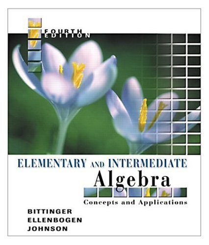 9780321233837: Elementary and Intermediate Algebra: Concepts and Applications (4th Edition)