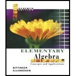 9780321233851: Elementary Algebra: Concepts And Applications