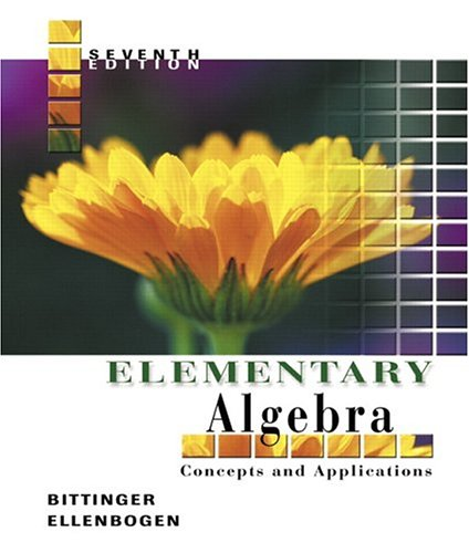 9780321233882: Elementary Algebra: Concepts and Applications (7th Edition)