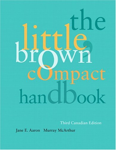 9780321235831: The Little, Brown Compact Handbook, Third Canadian Edition