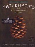 Mathematics for Elementary School Teacher's- Instructor's Edition, 3rd: O'Daffer, Charles...