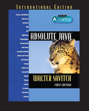 9780321242655: Absolute Java (International Edition)