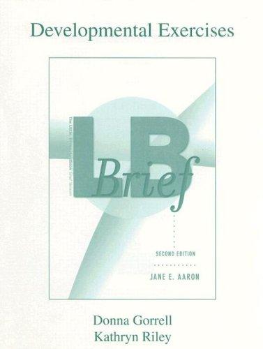 9780321245038: The Little Brown Handbook - Brief Edition: Developmental Exercises
