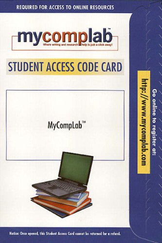 9780321245274: MyCompLab 1.0 Website Student Access Card