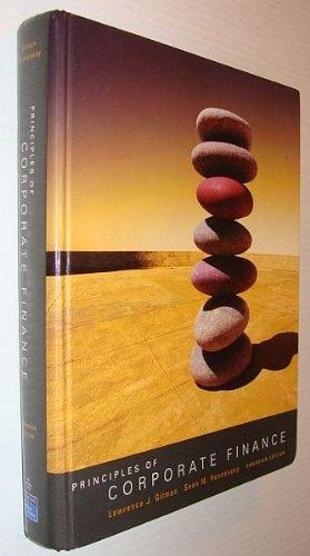 Principles of Corporate Finance: Canadian Edition: Lawrence J. Gitman,