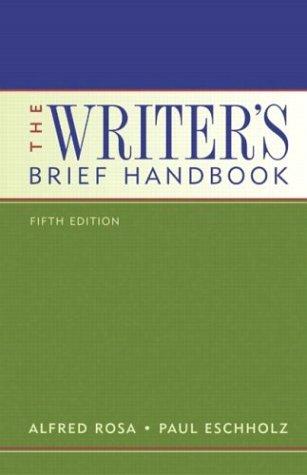 9780321250476: Writer's Brief Handbook, The (5th Edition)