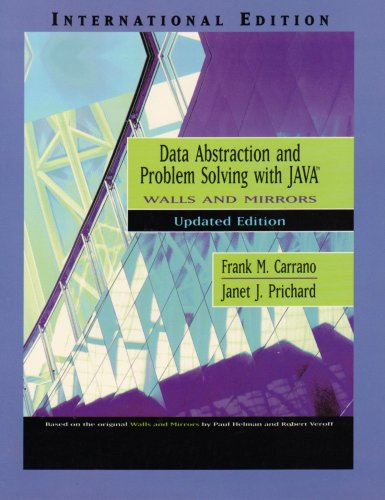 9780321252814: Data Abstraction and Problem Solving with Java, Walls and Mirrors: Updated Edition (Pie)