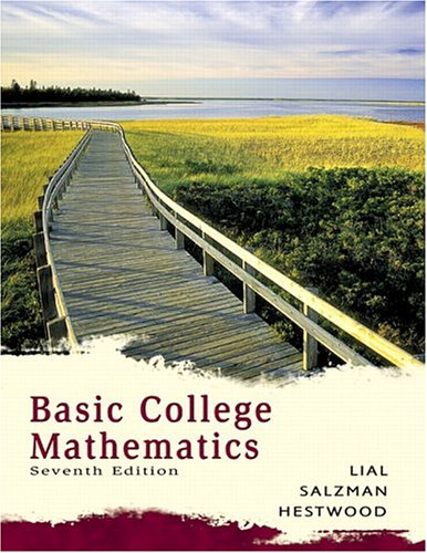 Basic college mathematics ( instructor's solution manual ) (7th.