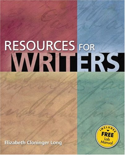 9780321261663: Resources for Writers