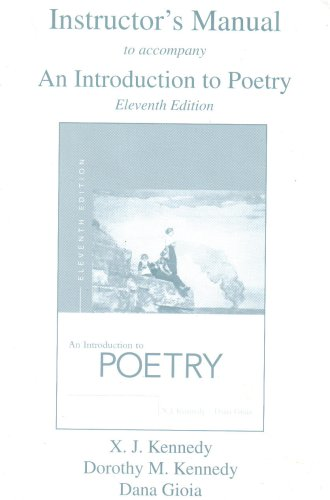 9780321261700: Instructor's Manual to accompany An Introduction to Poetry Eleventh Edition