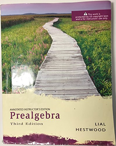 9780321266873: Prealgebra: Annoted Instructor's Edition