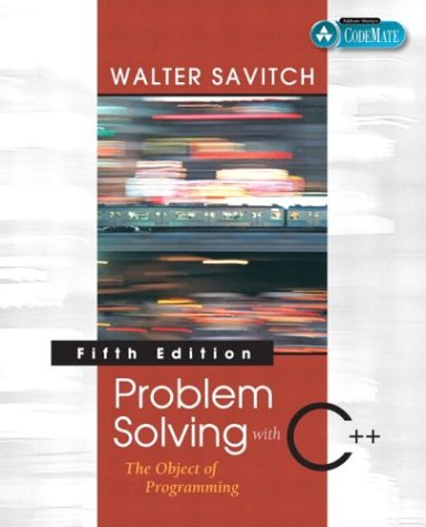 9780321268655: Problem Solving with C++: The Object of Programming, Fifth Edition