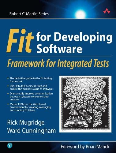 9780321269348: Fit for Developing Software: Framework for Integrated Tests (Robert C Martin)