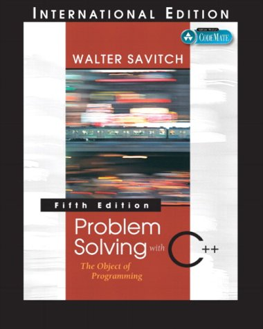 9780321269751: Problem Solving with C++: The Object of Programming, 5th Edition (International Edition)