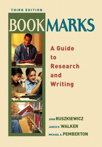 9780321271341: Bookmarks: A Guide to Research and Writing (3rd Edition)