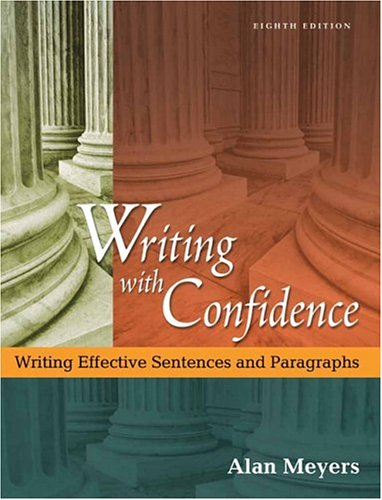9780321273475: Writing with Confidence (8th Edition)
