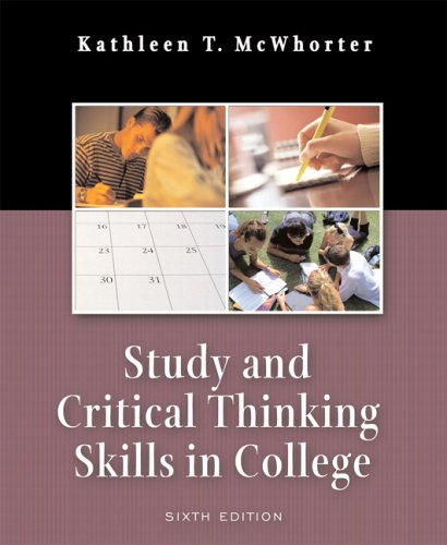 9780321276483: Study and Critical Thinking Skills in College (6th Edition)