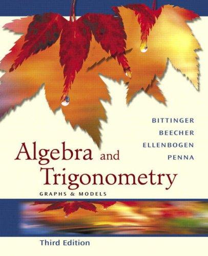 9780321279118: Algebra And Trigonometry: Graphs And Models