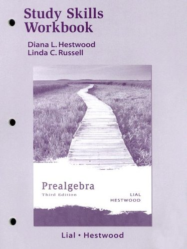 9780321279262: Study Skills Workbook for Prealgebra