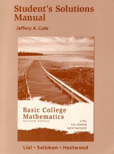 Basic College Mathematics (Student's Solution Manual): Margaret L. Lial,