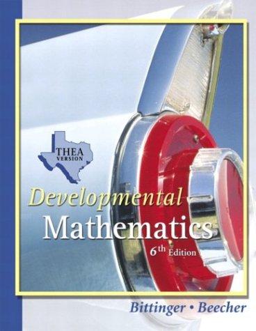 9780321279460: Developmental Mathematics THEA Update Version (6th Edition)