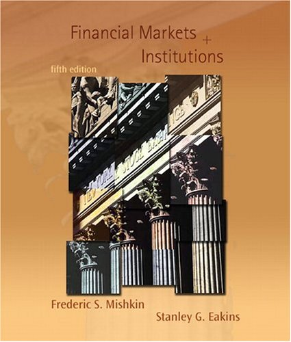 9780321280299: Financial Markets and Institutions: United States Edition (Addison-Wesley Series in Finance)