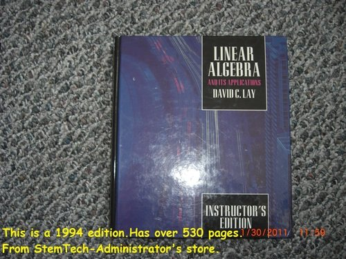 9780321280633: Linear Algebra and its Applications (Instructor's Edition) Update