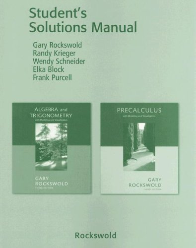 9780321280749: Student Solutions Manual for Algebra & Trigonometry with Modeling & Visualization and Precalculus with Modeling and Visualization